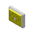 Distanziale in plastica per tastiere Air2-Aria/W o Aria/H