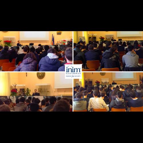 Inim per il Territorio: seminario presso il Montani di Fermo