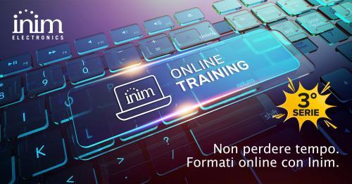 La formazione online di Inim continua. Scopri la terza serie di webinar che ti premia!